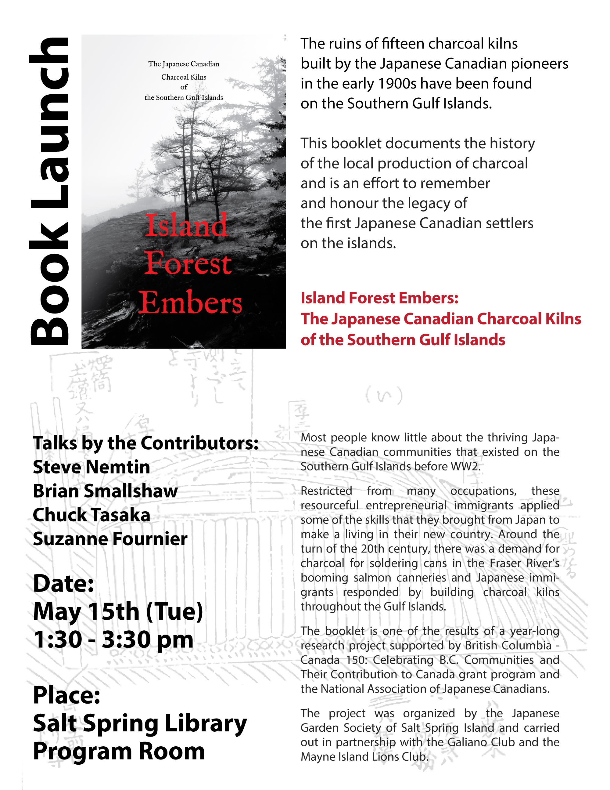 Island Forest Embers book launch